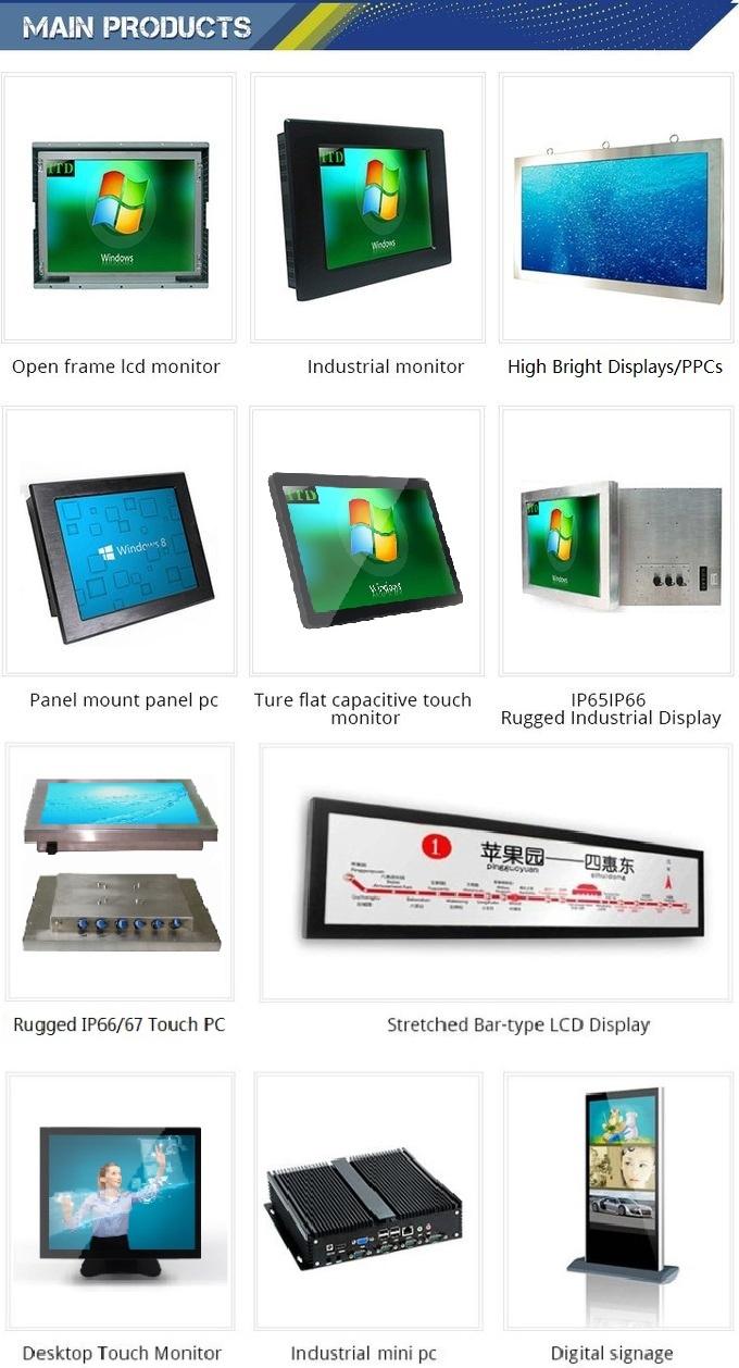 High Brightness Ultra Wide Stretched Displays LCD Digital