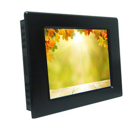 China Aluminum Front Bezel Sunlight Readable LCD Monitor VGA / DVI / HDMI Input supplier