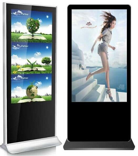 Full HD Digital Signage Screens Free Standing Outdoor