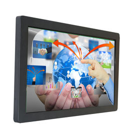 China Industrial Touch Screen Display Monitor / 65 Inch Lcd Monitor With Toughened Glass Front factory