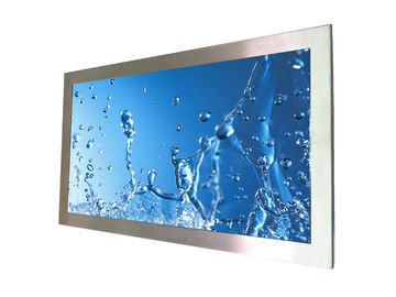 Waterproof Sunlight Readable LCD Monitor Stainless Steel 1000 Nits 27 Inch Touch Screen