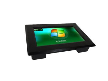 7 Inch panel mount lcd display with projected capacitive touch screens IP65 front