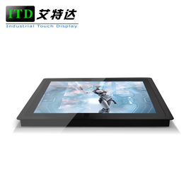 High Resolution Panel Mount Touch Screen Monitor Flat Front Input VGA USB A Type FCC CE RoHS