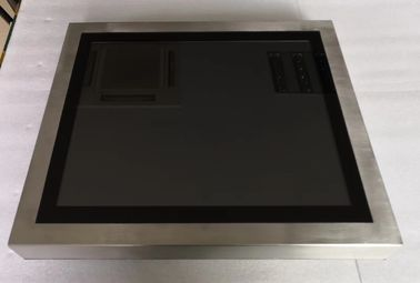 "China 15"" Pure Flat Stainless Steel Industrial Touch Screen PC Resistive Capacitive HMI Linux factory"