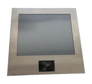 "13.3"" RFID Card Reader Industrial Panel Mounted Touch Screen Pc Stainless DC 12V"