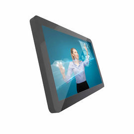 "Flat Panel 19"" Industrial Panel PC , Capacitive Touch Rugged All In One PC Fanless Wall Mounted"
