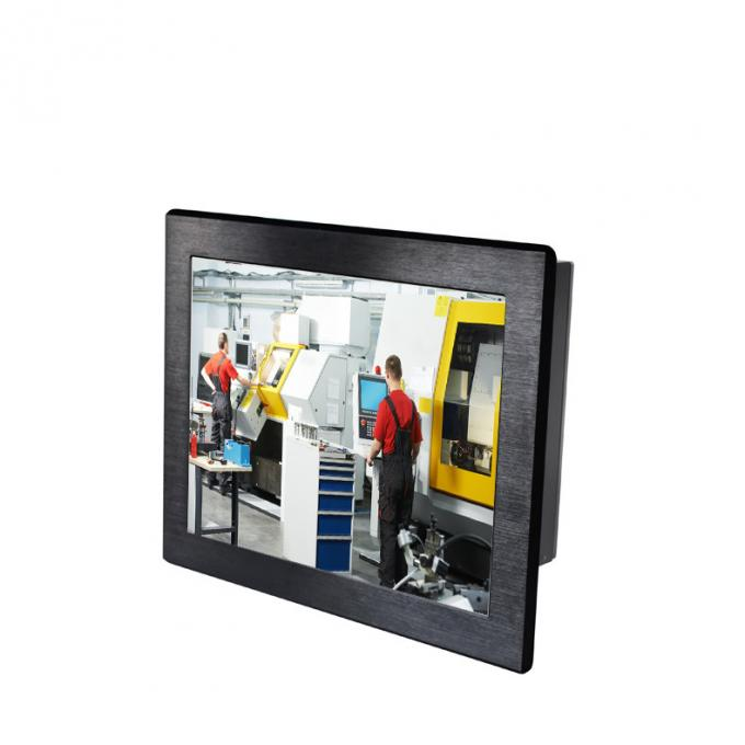 "15""XGA industrial touchscreen LCD panel mount panel PC computer IP65 Front"